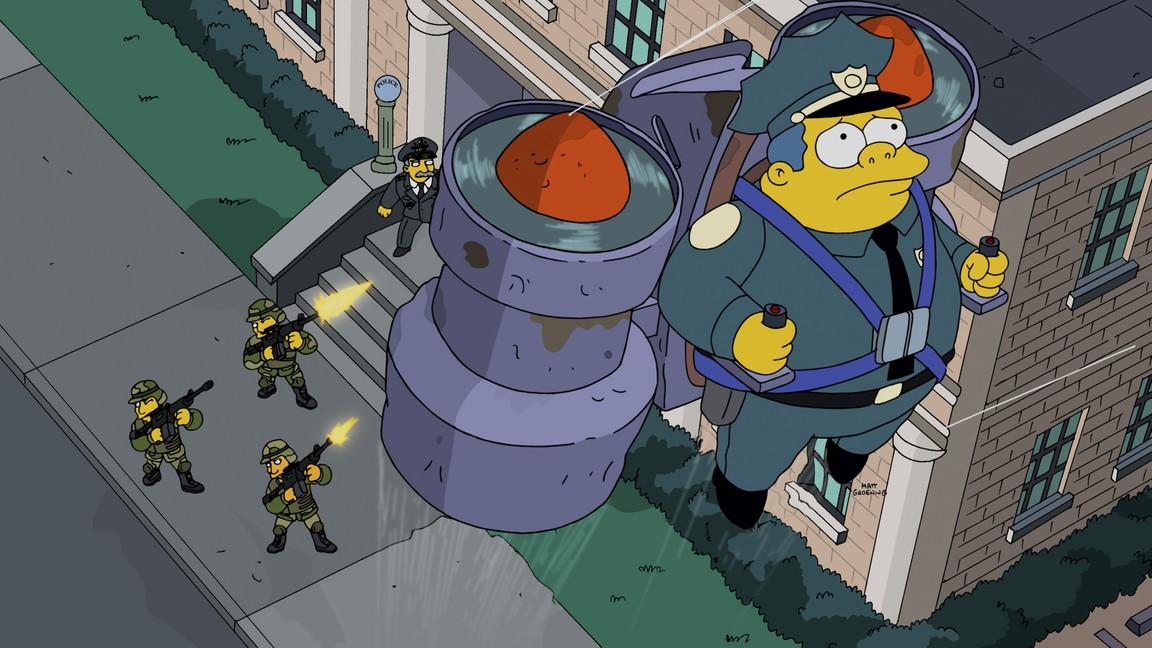 The Simpsons - Season 26 Episode 16: Sky Police